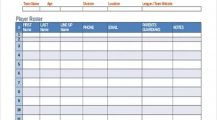 Baseball Roster and Schedule Template Example Xls Schedule Team Roster and Schedule Template Examples