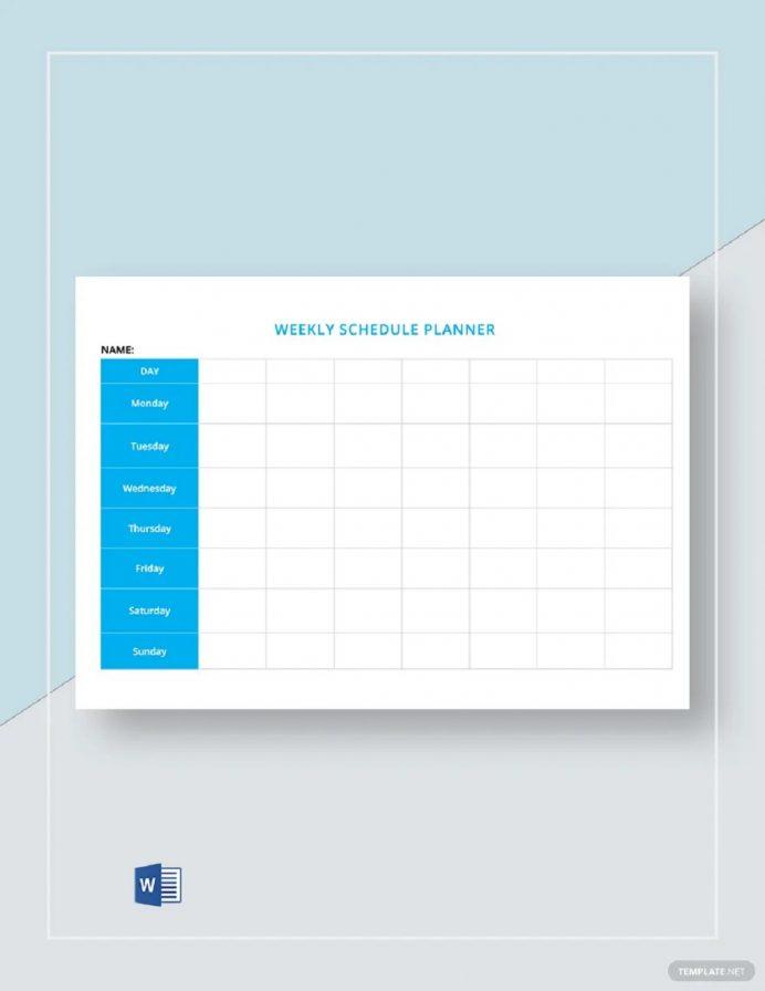 Free Blank Weekly Schedule Sample Template Schedule Weekly Schedule Template Samples