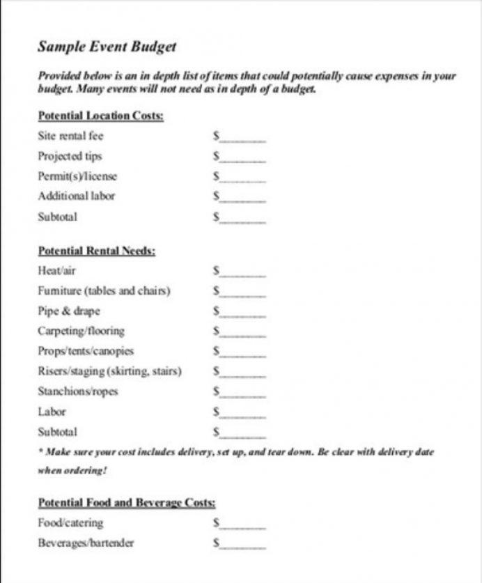Event Management Budget Template Sample PDF Samples Budgeting Pdf, Ppt, Form, Proposal, Virtual Budget,