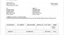 Blank Invoice Template Word Invoice 9+ Blank Invoice Template Samples