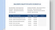 Professional Machine Maintenance Schedule Template Sample Schedule Maintenance Schedule Template Samples