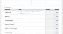 Staff Meeting Agenda Schedule Template Sample MS Word Schedule 16+ Meeting Schedule Template Samples