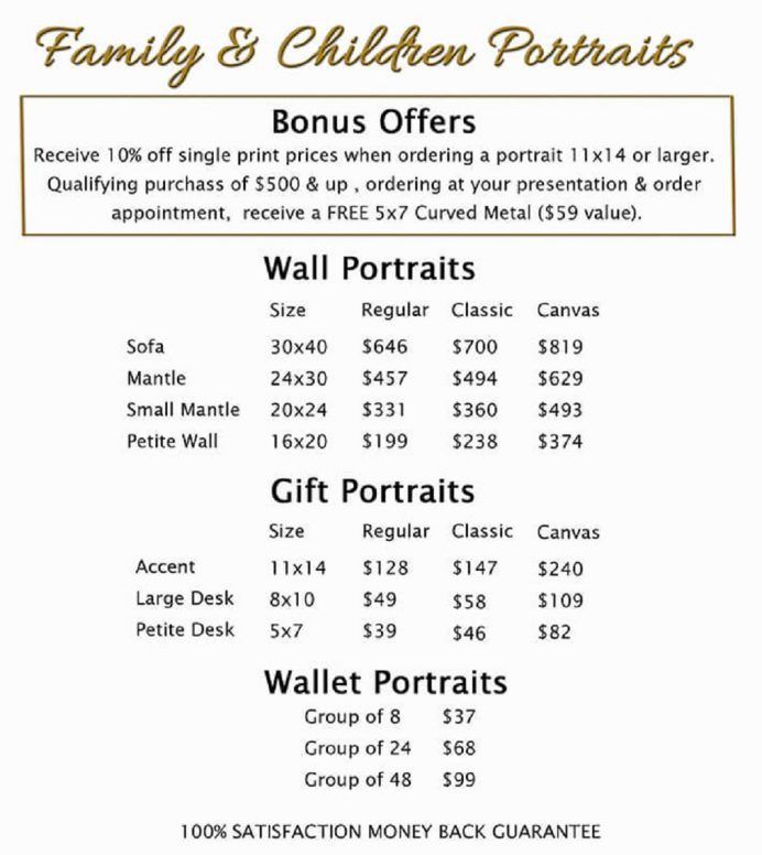 Family Portrait Budget Template Form Example Sample Budget Photography Budget Template Examples
