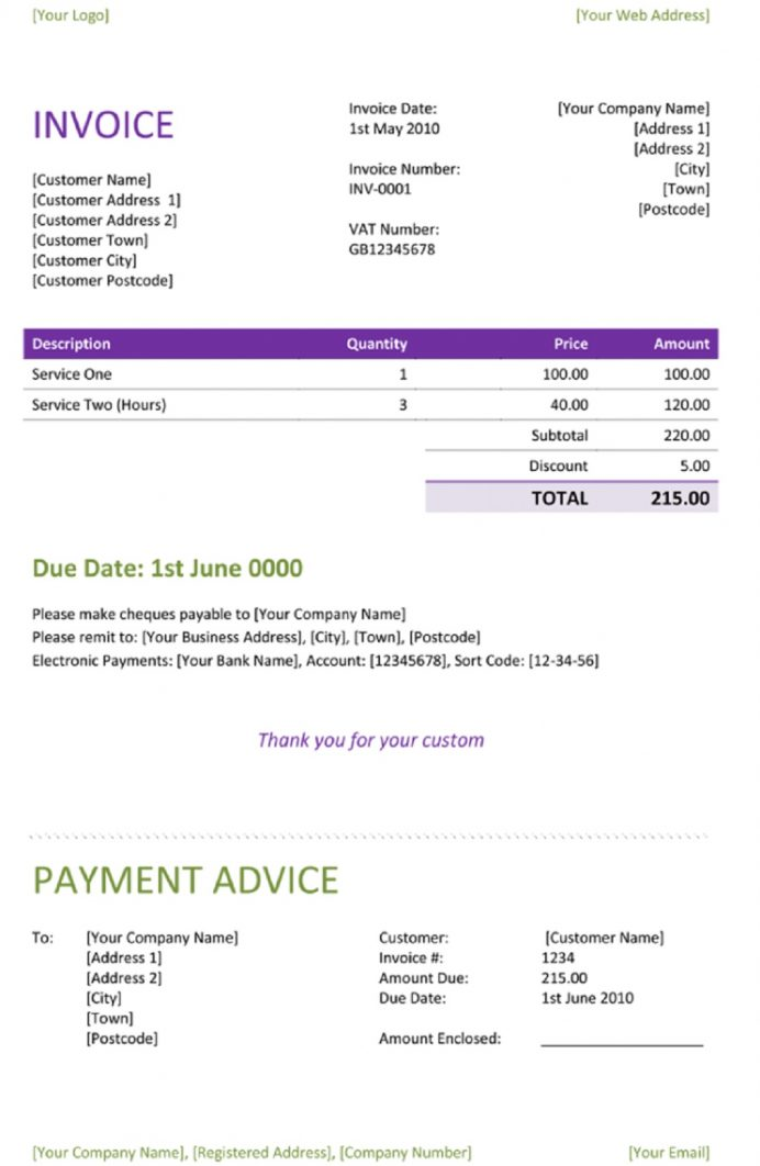 Freelance Service Invoice Form Template Pdf, What To Put On A Invoice, Design Template, Word Doc, Google Docs,