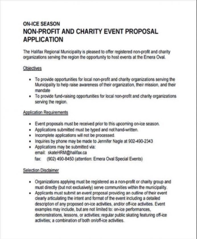 Non-Profit Charity Event Proposal Template Example Sample Examples Non Profit Partnership Proposal, Grant Organization, Free Templates, Sample,