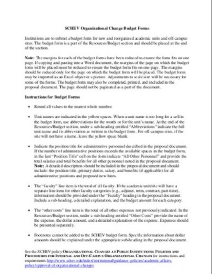 Organizational Change Budget Form Template Sample Example Samples Types Of Budgets, Operating Budget, Pdf, For Nonprofit Startup,