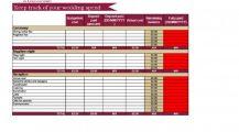 Wedding Budget Tracker Excel Template Budget Wedding Budget Spreadsheet Template Examples