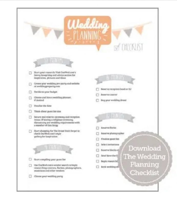 Wedding Planning Checklist And Timeline Format Sample Example Template Samples Complete Checklist, Excel, Printable, Simple Pdf,