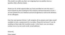 Email Resignation Letter Template Word Free Letter Email Resignation Letter Template Sample