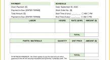 Mechanic Work Order Template Word Work Order Mechanic Work Order Template Sample