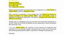 Police Officer Resignation Letter PDF Template Free Letter Police Officer Resignation Letter Template Sample