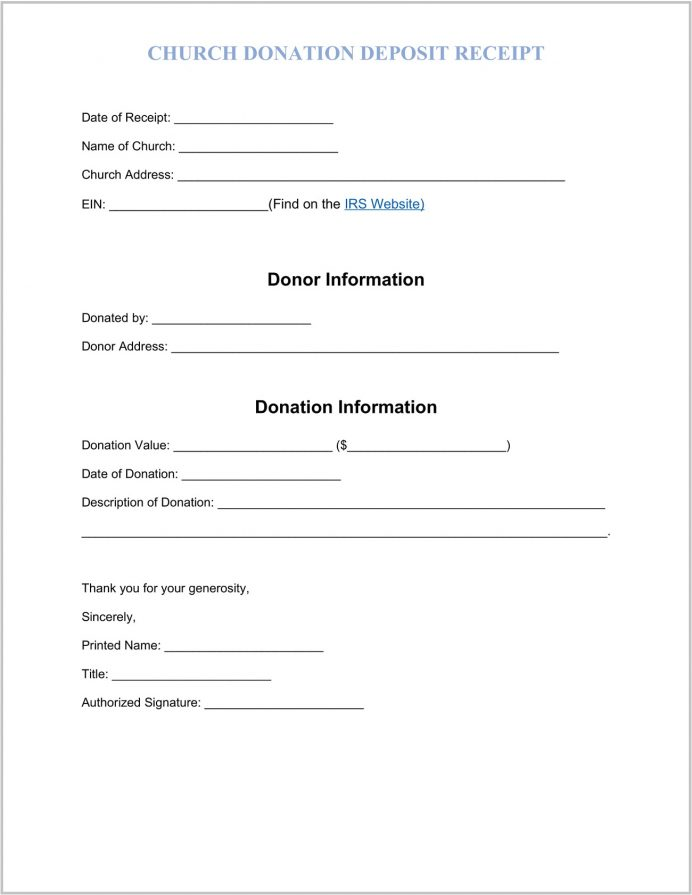 Church Donation Receipt Template Word Sample Tithing Template, Sheet Tax Deduction Form Pdf,