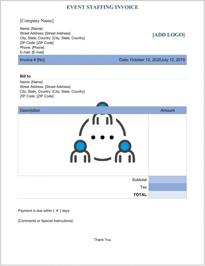 Event Staffing Invoice Template Word Form (Management) Sample Invoices For Expenses Include Quizlet, Wedding Planner Sample, Format In Excel, Free Templates, Management
