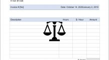 Legal Consultant Service Invoice Word Template Invoice Legal Consultant Invoice Template Sample