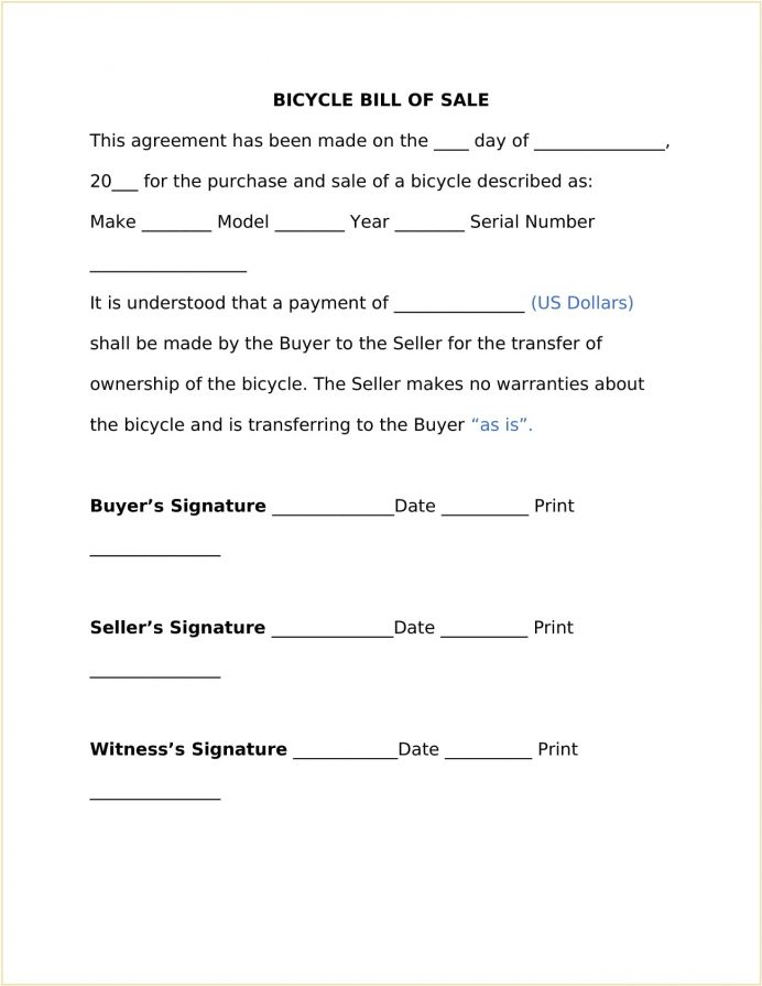Bicycle Bill Of Sale Template Word Doc Sample Form Simple For Bike, Receipt Bike Pdf, Do You Need A Bicycle, Motorcycle Sale, Free