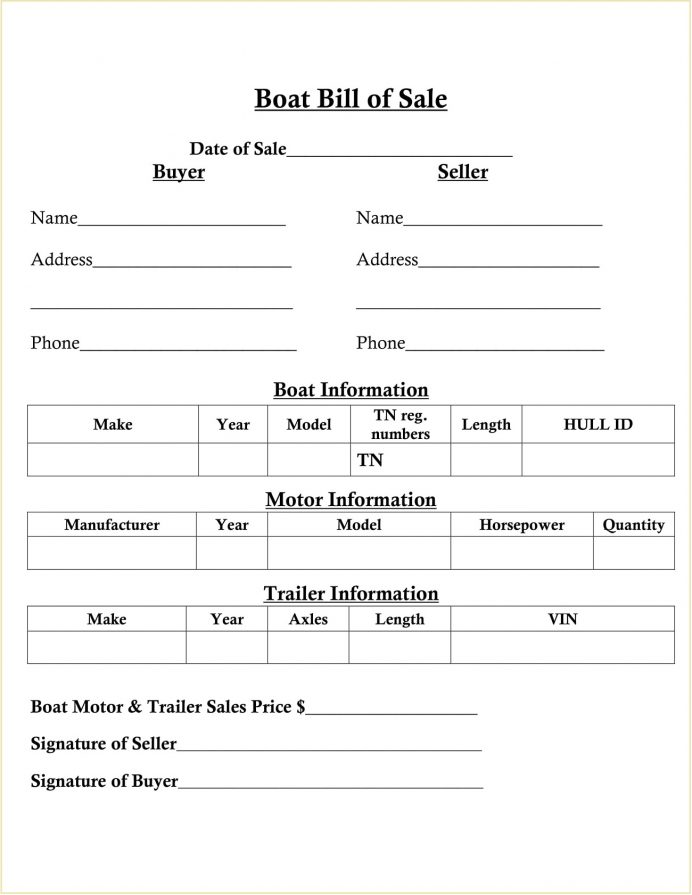 SImple Boat Motor Bill Of Sale Sample PDF (Vessel) Form Template As Is No Warranty, How To Write A For Boat, Alabama, Florida, Nc,