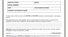 Mobile Home Bill Of Sale Form Template PDF Bill Of Sale Manufactured Mobile Home Bill of Sale Form Template Sample